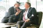 Forum Italia-Russia per la Cooperazione interegionale - Il console russo Nurizade con il giornalista di Sputnik Italia Marco Fontana